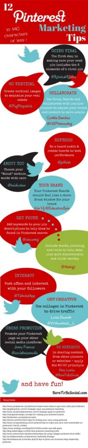 Tweetable Pinterest Marketing Tips from the Pros [Infographic] –  http://autopostpinterest.com/
